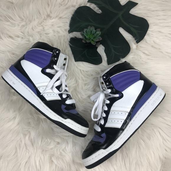 Adidas zapatos High Top zapatilla tamaño 115 negro púrpura poshmark